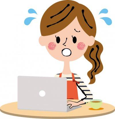 ネットショップで不良品の対応で困る女性